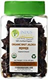 Indus Organics Authentic Indian Bhut Jolokia Chili Pepper (Ghost Pepper) Whole, 1.5 Oz Jar (30-36 Peppers), Steam Sterilized, High Purity, Freshly Packed