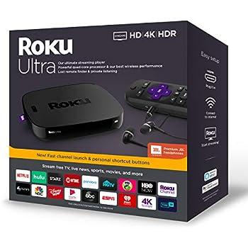 Roku Ultra | Streaming Media Player 4K/HD/HDR with Premium JBL Headphones 2019