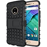 Case Collection® Stylish Heavy Duty Shock Proof Armour Dual Protection Cover with Built-in Kickstand Case For Motorola Moto G5