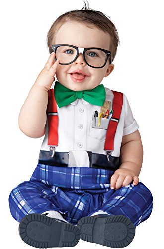 InCharacter Baby Boy's Nursery Nerd Costume, White/Blue, Small]()