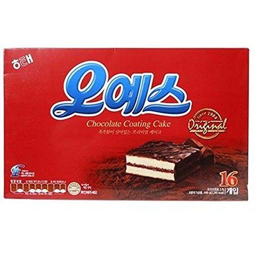 Haitai Ohyes Premium Chocolate Coated Cream Cake 448G X 3 오예스 by Haitai
