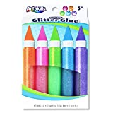 ArtSkills Neon Jumbo Glitter Glue, Arts and Crafts Supplies, Super Sparkly Glitter, Bright Glitter Glue Pens, Assorted Colors, 5-Count (PA-1478)