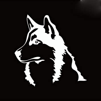 Husky Siberiano Malamute Silueta Etiqueta de La Pared de Dibujos ...