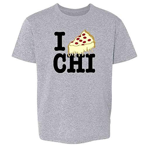 I Pizza Chicago Sport Grey 3T Toddler Kids T-Shirt