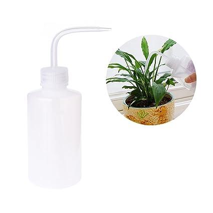 Lunji 250 ml plástico Bend boca regaderas Squeeze Botella para plantas/ flores