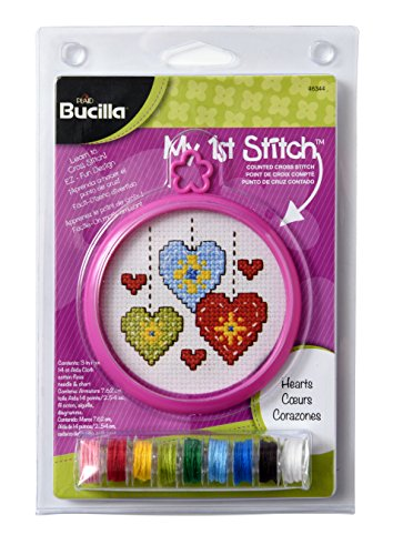 Bucilla My 1st Stitch Mini Counted Cross Stitch Kit, 5.125 by 7.625-Inch, 46344 -