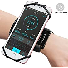 Matone iPhone X/8/8 Plus/7/7 Plus/6/6S Plus Wristband, 180° Rotatable Phone Holder Forearm Armband Ideal for Jogging Running Compatible with Samsung Galaxy S8/S7 & 4.0