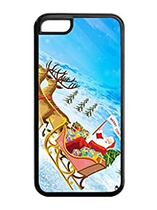 Iphone 5C Case,Christmas Santa Claus Gift Sleigh Iphone 5C TPU Silicone Cases,Phone Case Apple Iphone 5C Soft Skin Case by lolosakes