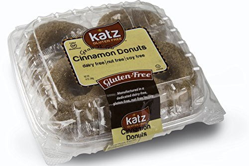 Katz Gluten Free Individual Wrapped GRAB 'N' GO Cinnamon Donuts, 14 Ounce, Certified Gluten Free - Kosher - Dairy Free, Nut Free & Soy free (Pack of 1) (Fruity Pebbles Single Serve compare prices)