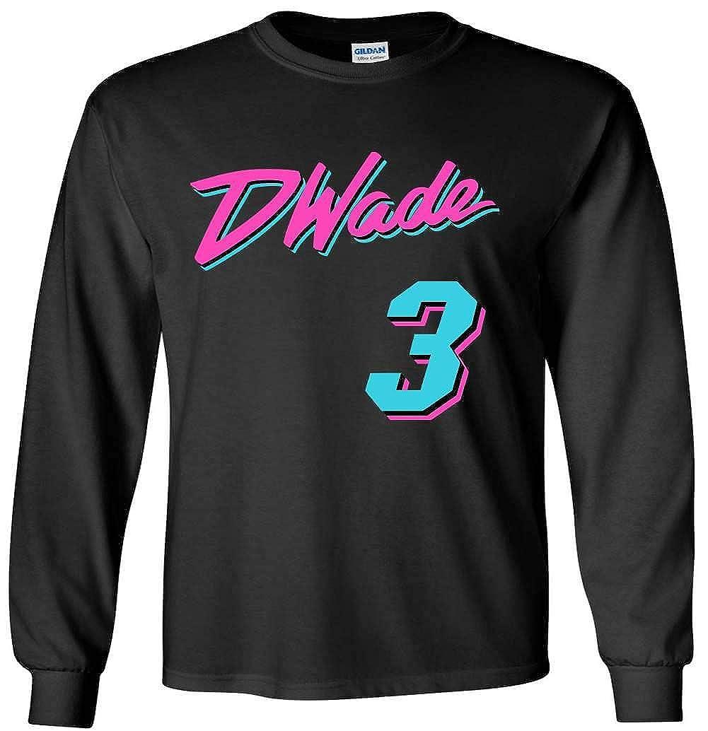 timeless design 1f56e 59304 The Tune Guys Long Sleeve Black Miami Wade Vice City T-Shirt ...