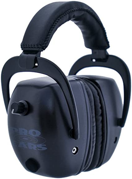Military Grade Hearing Protection and Amplification Ear Muffs Pro Tac Slim Gold Black NRR 28 Pro Ears