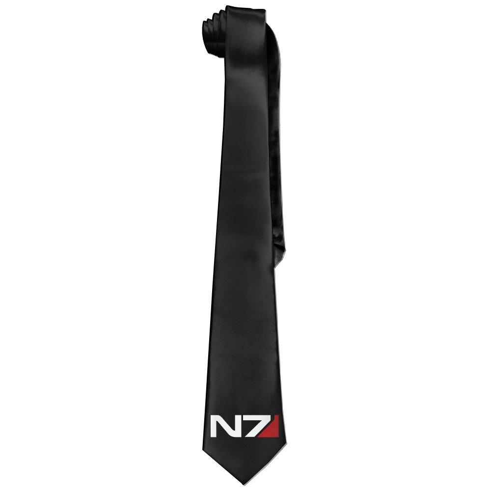 MEIDINGT Mass Effect Alliance N7 Necktie Skinny Ties / New Novelty Necktie