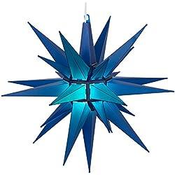 "Kringle Traditions LED Moravian Star Light, 14"", Blue"