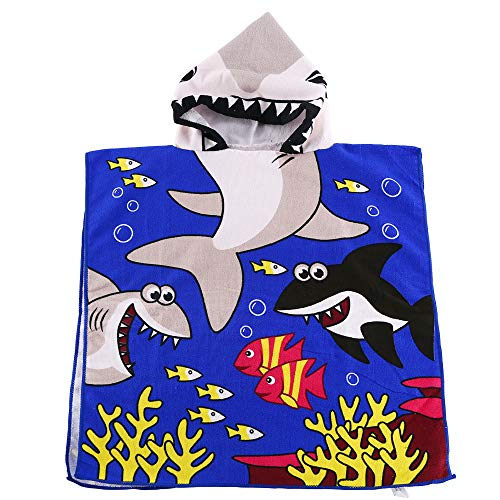 Kids Hooded Beach Bath Towel for Age 2-7 Years - Swim Pool Coverup Poncho Cape Multi-use for Bath/Shower/Pool/Swim 24