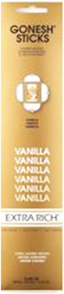 20 Sticks In 1 Pack Gonesh Incense Extra Rich Vanilla 2208114