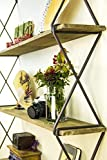 unique small bathroom storage AVIGNON HOME Rustic Floating Wood Shelves 3-Tier Wall Mount Hanging Shelves Book Shelves Industrial Wood Book Shelves Storage, Display & Decor for Bedroom, Living Room, Kitchen, Office 40