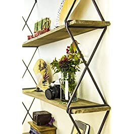 AVIGNON HOME Rustic Floating Wood Shelves 3-Tier W...
