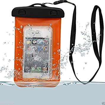 Etui funda impermeable waterproof Universal Naranja Carrefour Smart 5