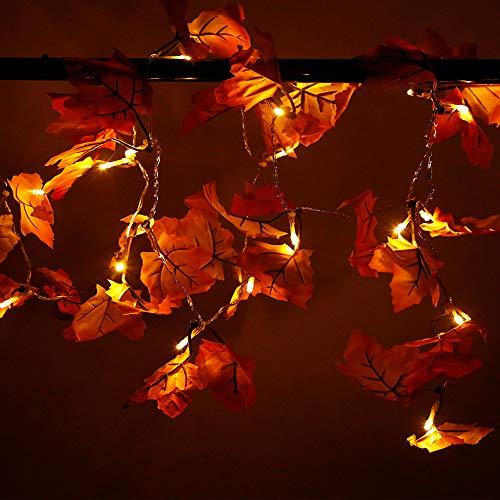 SILIVN-Fall-DecorationsFall-GarlandFall-WreathThanksgiving-DecorationsChristmas-Decor-Lighted-Fall-Garland-82-Feet-20-Lights-1-Pack