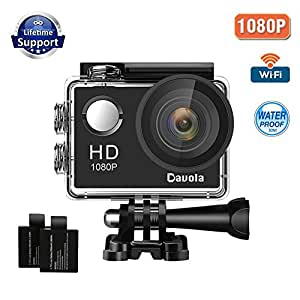 Action Camera 1080P 12MP WiFi Sport Camera 98ft Unerwater Waterproof Camera -Davola DL101 with Wide-Angle Lens and Mounting Accessory Kits