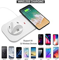 KONKY Cargador Inalámbrico Qi Wireless Charger & 3-in-1 Base de Carga Inalámbrica USB Charging Station Compatible con iPhone XR/XS/X/8 Plus, Samsung ...