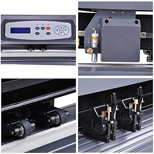 28'' Cutting Plotter Vinyl Cutter Machine Adjustable Width with LCD Display USB Connection Auto Memory Digital Force Speed Rotating Blade Holder Stepper Motor US Delivery by ZeHuoGe (Image #4)