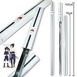naruto grass cutter sword - S3101 ANIME NARUTO SASUKE KUSANAGI GRASS CUTTER SWORD GUN METAL BLADE WHITE 40