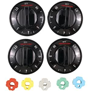 RANGE KLEEN 8114 Electric Range Knobs (4-pk, Black)