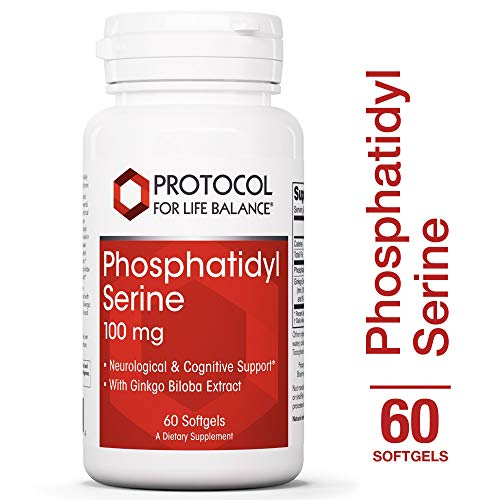Protocol For Life Balance – Phosphatidyl Serine 100 mg – Neurological Cognitive Support with Ginkgo Biloba Extract Supports Neurological Systems Function – 60 Softgels