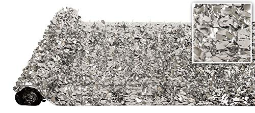 Silver Metallic Floral Sheeting
