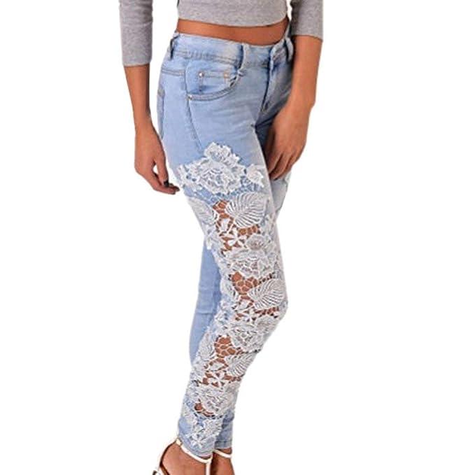 Pantaloni in Denim da Donna Scava Fuori I Unique Stlie Jeans