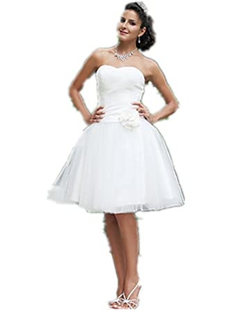 Quality Made to Measure Ball Gown Sweetheart Knee-length Wedding ...
