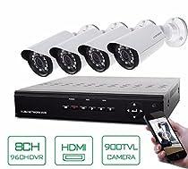 GOWE 4CH CCTV System 8 Channel HDMI DVR 4PCS 900TVL IR Weatherproof Security Camera Home Security System Surveillance Kits