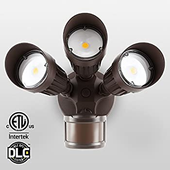 30w 3 Head Motion Activated Led Outdoor Security Light