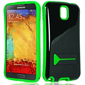 Samsung Galaxy Note 3 III N9005 N9000 Silicone Soft Skin Gel Protector Case Cover - Black Green