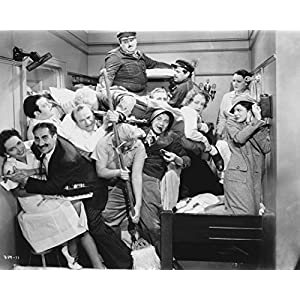 "Globe Photos ArtPrints Marx Brothers In Movie Scene Photograph Print - 10"" X 8"" Pop Culture Art Photographic Full Bleed Print - Premium Paper"