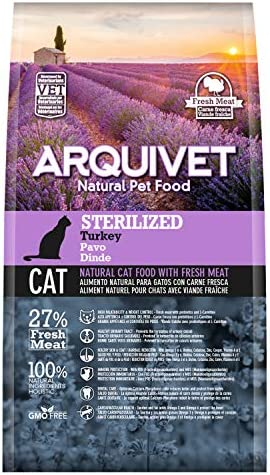 Arquivet Pienso para gatos Sterilized Turkey -1,5kg: Amazon.es: Productos para mascotas