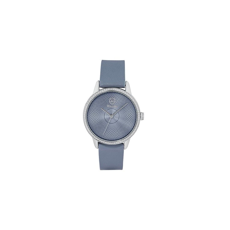 Uhr RosÉ Damen rwro07 Quarz (Batterie) Stahl Quandrante hellblau Armband Leder
