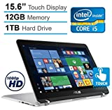 "ASUS 2-in-1 15.6"" Touchscreen Full HD Convertible Premium Laptop, 7th Intel Core i5-7200, 12GB DDR4 RAM, 1TB HDD, Backlit keyboard, 802.11ac, Bluetooth, HDMI, Fingerprint Reader, Win 10"