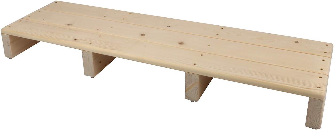 Taburete de madera de Uyoyous, taburete con base antideslizante para personas mayores, niños pequeños, mascotas y más, aprox. 100 x 30 x 11 cm (largo x ancho x alto).
