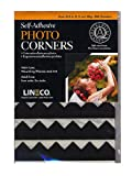 Lineco Infinity Paper Photo Corners black pack of 252 [PACK OF 2 ]