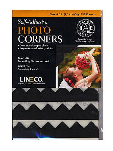 Lineco Infinity Paper Photo Corners black pack of 252 [PACK OF 2 ] by Lineco