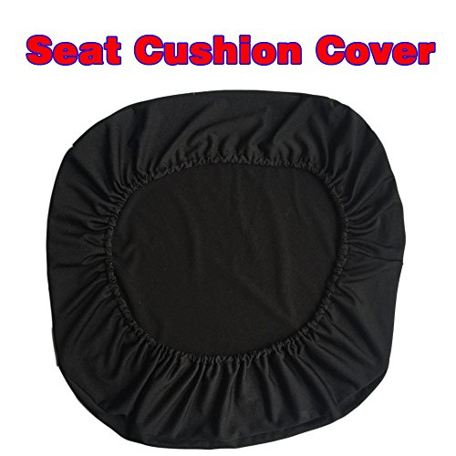 Loghot Chair Covers Spandex Universal Computer Office Desk Stretch Rotating Pure Color Chair Cover (Black) Photo #4