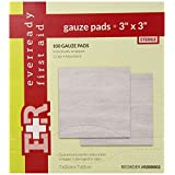 Ever Ready First Aid Sterile Gauze Pads, 3x3, 100/Box