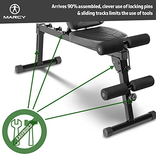 Marcy-Pro-EasyBuild-Adjustable-Weight-Bench-Folding-Black-One-Size