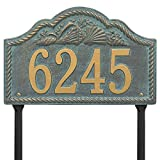"Rope Shell Arch LAWN Address Plaque 15.5"" x 10"" (1 Line)"