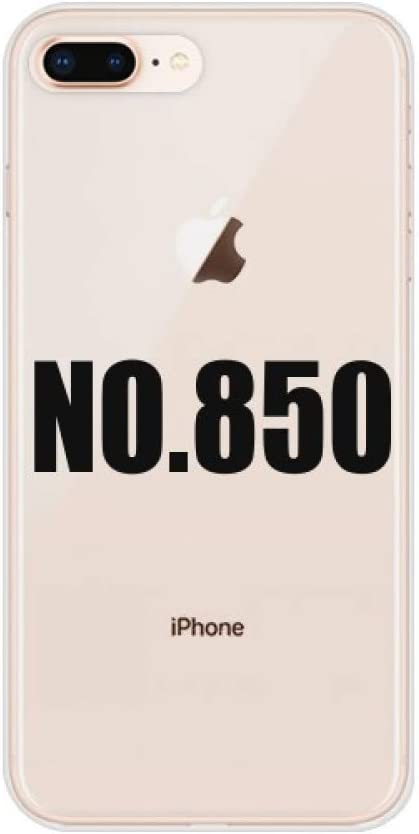 Lucky No.850 Number Name for Apple iPhone 7/8 Plus Phone Case Flexible Soft Slim Transparent Cover