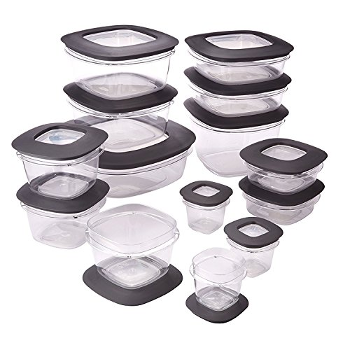 Rubbermaid Premier Crystal Clear Stain Resistant 30 Piece Set Storage container (Crystal Storage Containers)