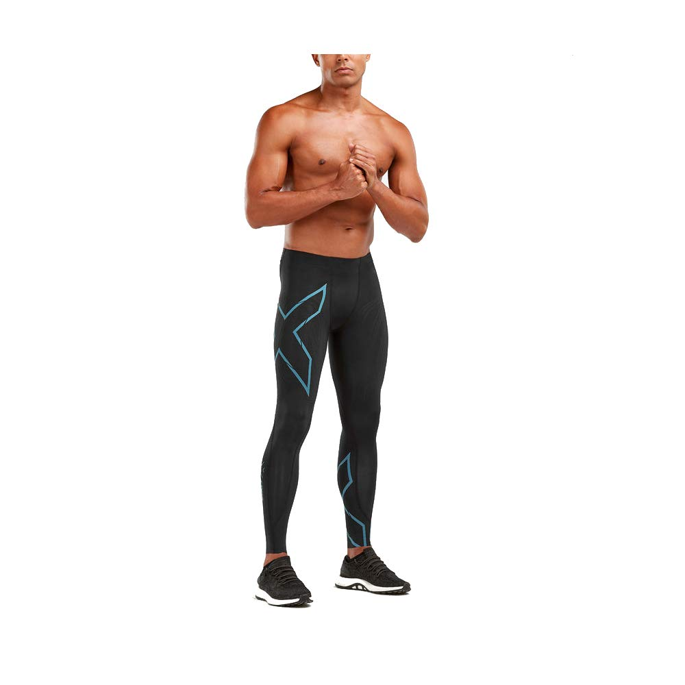 2XU Men's MCS Run Compression Tight with Back Storage (Black/Corsair Reflective, S) by 2XU (Image #1)
