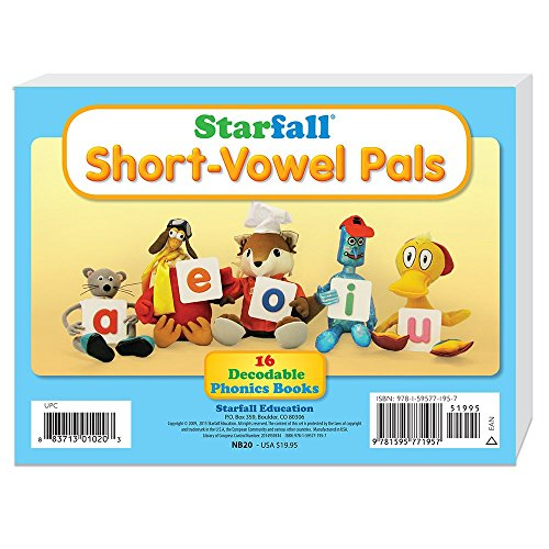 Starfall Short-Vowel Pals 16 Decodable Phonics - Decodable Book